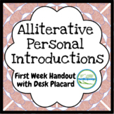 First Day, First Week Student Introductions and Icebreaker through Alliteration