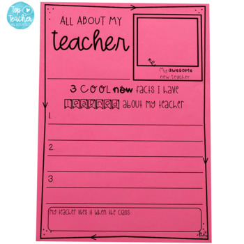 First Day/Back to School writing printables
