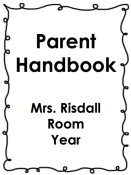 First Day Folder Packet!  Handout of all the info parents need!
