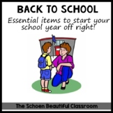 EDITABLE Back to School First Day Forms Parents' Checklist