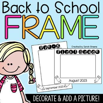First Day Frame {freebie!}