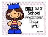 First Day Geometric Shape Hat