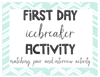 First Day Getting To Know You Icebreaker Activity