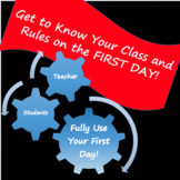 First Day Getting to Know You and Rules Activity