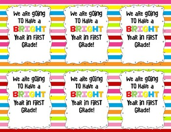 First Day Glow Tag Printable
