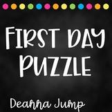 First Day Handprint Puzzle Freebie
