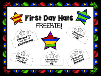 First Day Hats FREEBIE