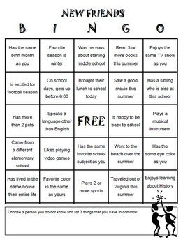 First Day Icebreaker Bingo By Nyteachinva Teachers Pay