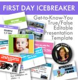 First Day Icebreaker: True False Quiz Template