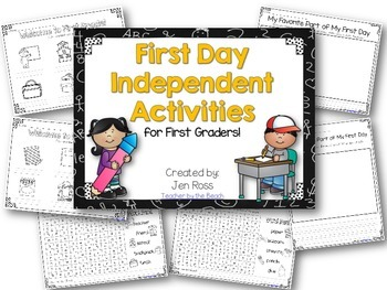 First Day Independent Activities for 1st Graders