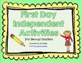 First Day Independent Activities for 2nd Graders