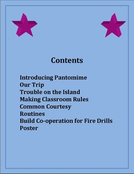 First Day Introducing Rules Grades 1, 2, 3