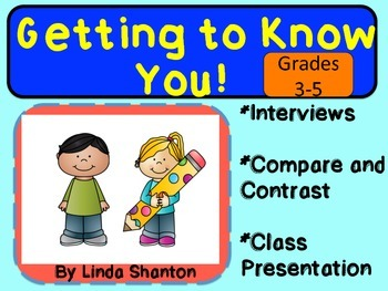 First Day Introduction Activity - Third-Fifth Grade