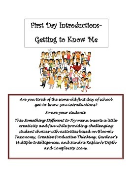 First Day Introductions- Getting to Know Me