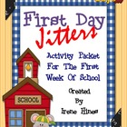 First Day Jitters ~ Back To School Activity Unit For The First Month Of School