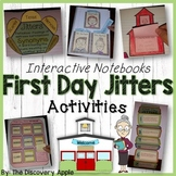 First Day Jitters Activities Interactive Notebooks Back to