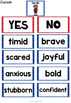 First Day Jitters Activity | First Day Jitters Character Traits and Feelings