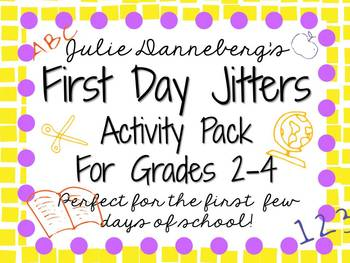 First Day Jitters: Activity Pack for 2nd-4th Grade