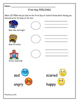 First Day Jitters Activity Packet- K-2nd