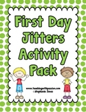 First Day Jitters- Back to School Activity Pack