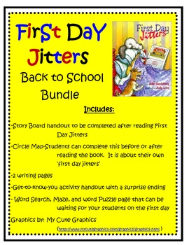 First Day Jitters Back to School Bundle