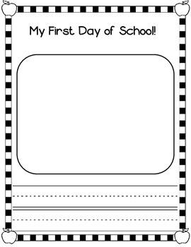 First Day Jitters:  August Back to School Kindergarten Activities