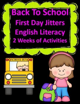 First Day Jitters:  August Back to School Kindergarten Activities