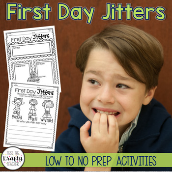 First Day Jitters Back to School Reader Response CCSS Aligned