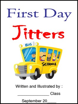 First Day Jitters Back to School Writing Activity