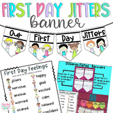 First Day Jitters, Banner, Back to School Activities, First Day of School