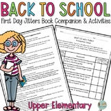 Back-to-School! First Day Jitters Book Companion