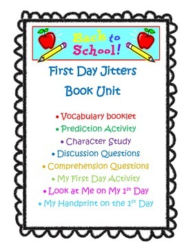 First Day Jitters Book Unit