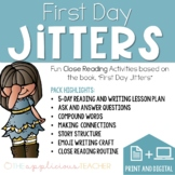 First Day Jitters Activities Print and Distance Learning