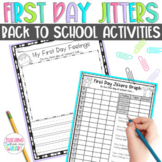 First Day Jitters Activities, Back to School Activities, First Week of School