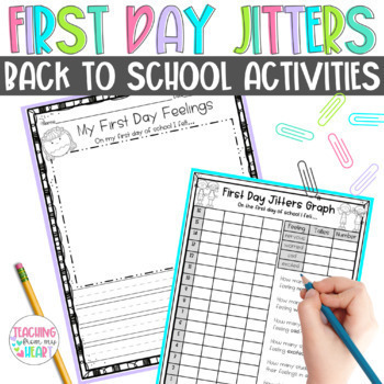 First Day Jitters Activities, Back to School Activities, First Day of School