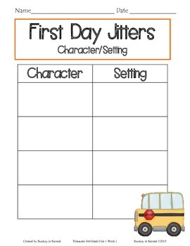 First Day Jitters {Companion Pack}