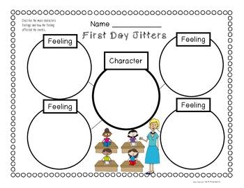First Day Jitters: Craftivities, Reading Response, Glyph, Math & Literacy Fun