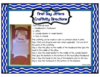 First Day Jitters Craftivity plus bracelets and bubble map