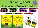 First Day Jitters Activities at school Feeling Sort for Speech Therapy