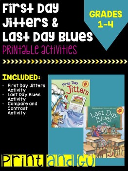 First Day Jitters & Last Day Blues Activity