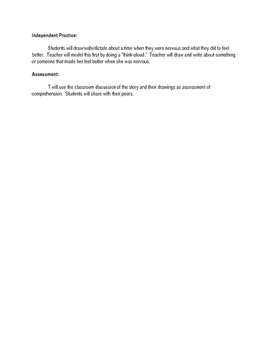First Day Jitters Lesson Plan