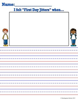 First Day Jitters Lesson Plan and Activities
