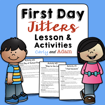 First Day Jitters Lesson and Activities: Beginning of the Year