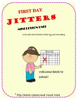 First Day Jitters Mini Lesson Activities Packet Grades 2-4
