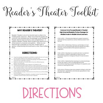 First Day Jitters Reader's Theater and Reading Literature Toolkit for Grades 4-8