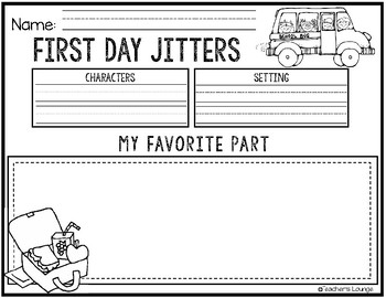 First Day Jitters Reading Activities