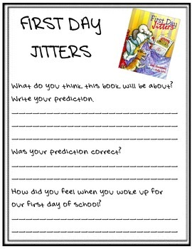 First Day Jitters Response Page