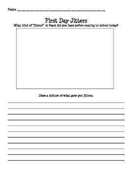 First Day Jitter's Response Sheet