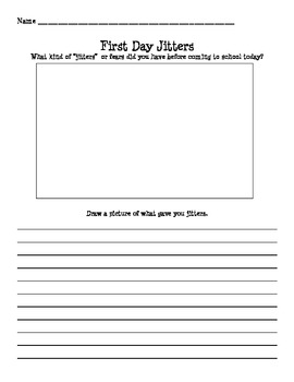 First Day Jitter's Response Sheet