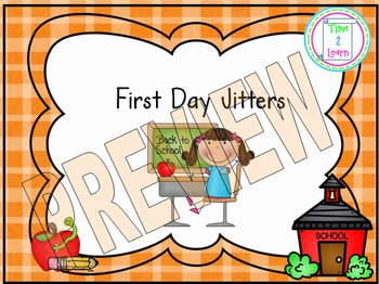 First Day Jitters Unit